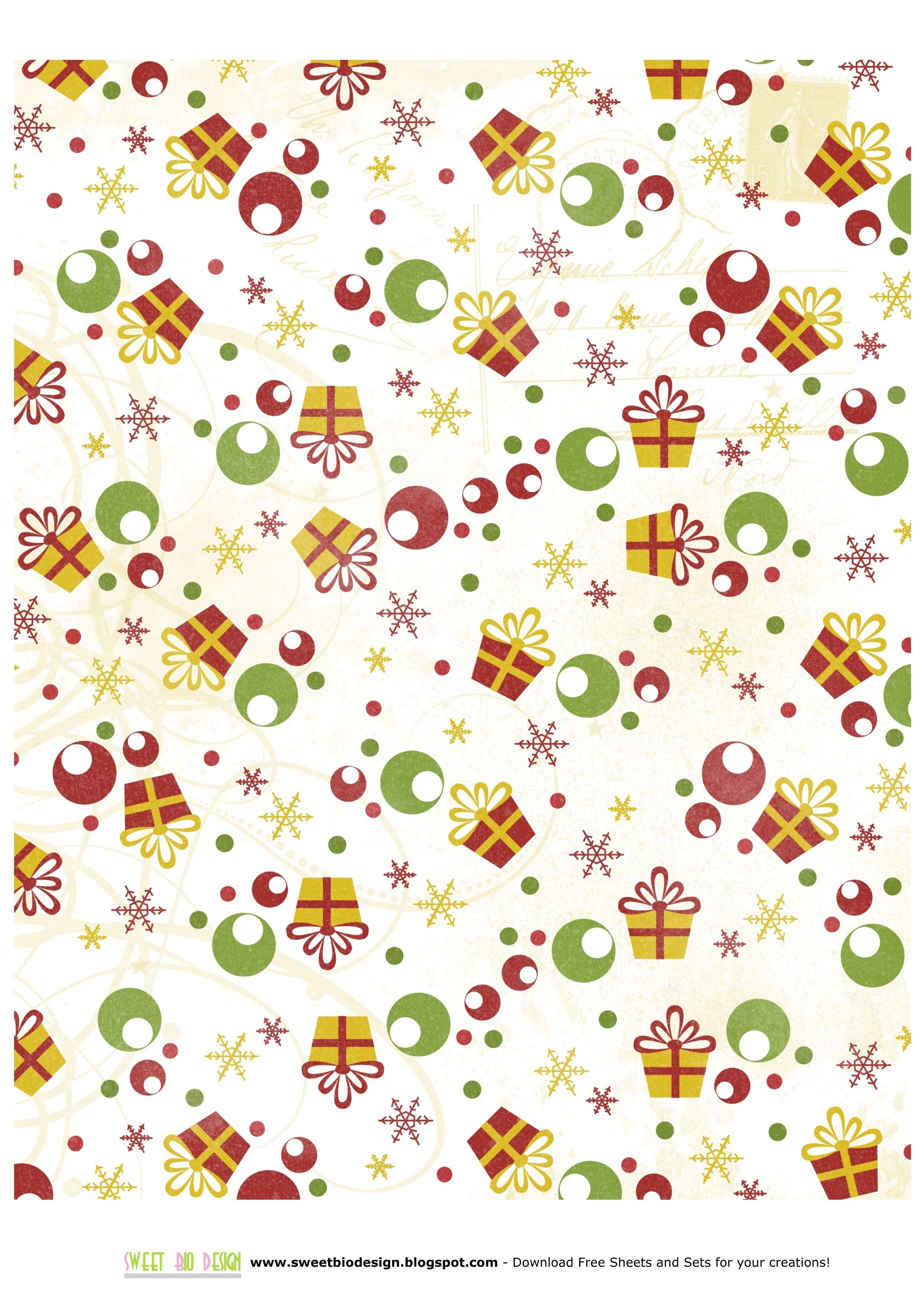 Printable Christmas Paper | Chart And Printable World - Free Printable Christmas Paper