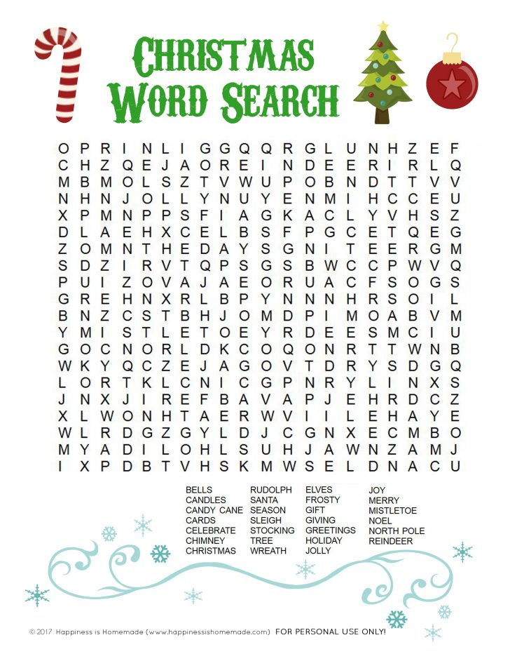 Free Printable Christmas Word Search Pages
