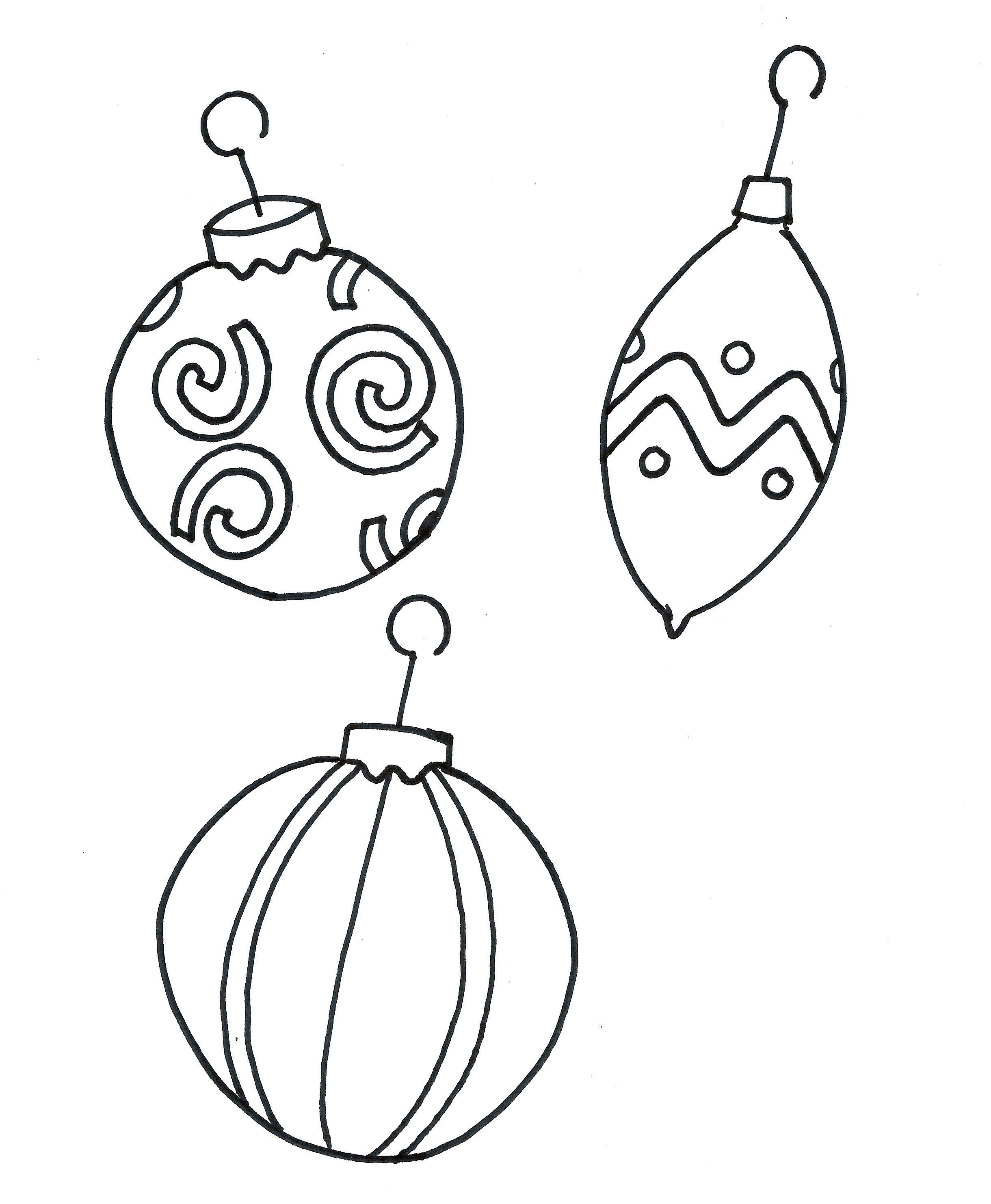Printable Coloring Pages Christmas Ornament Free | Christmas Crafts - Free Printable Christmas Ornament Coloring Pages