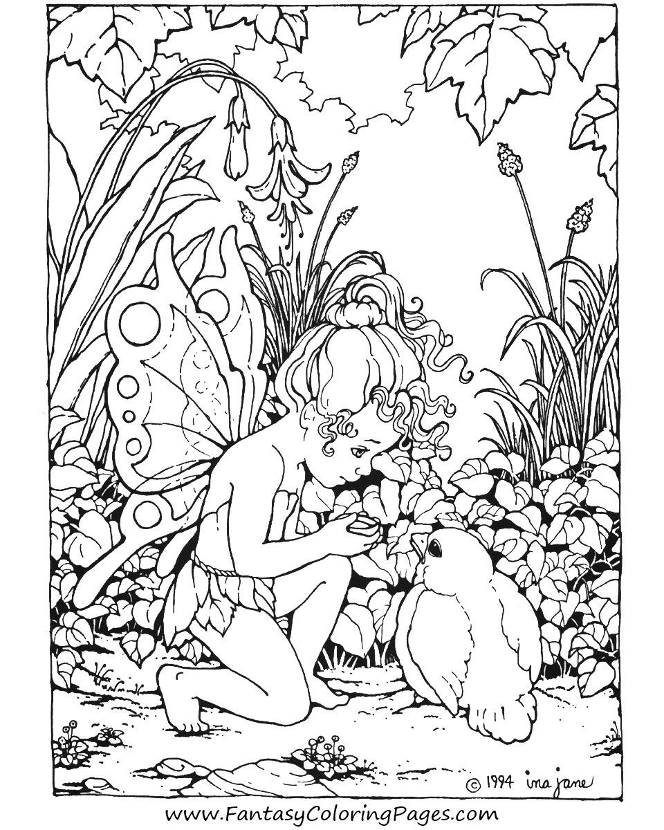 Printable Coloring Pages For Adults |  : Coloring Pages , Free - Free Printable Coloring Pages Fairies Adults