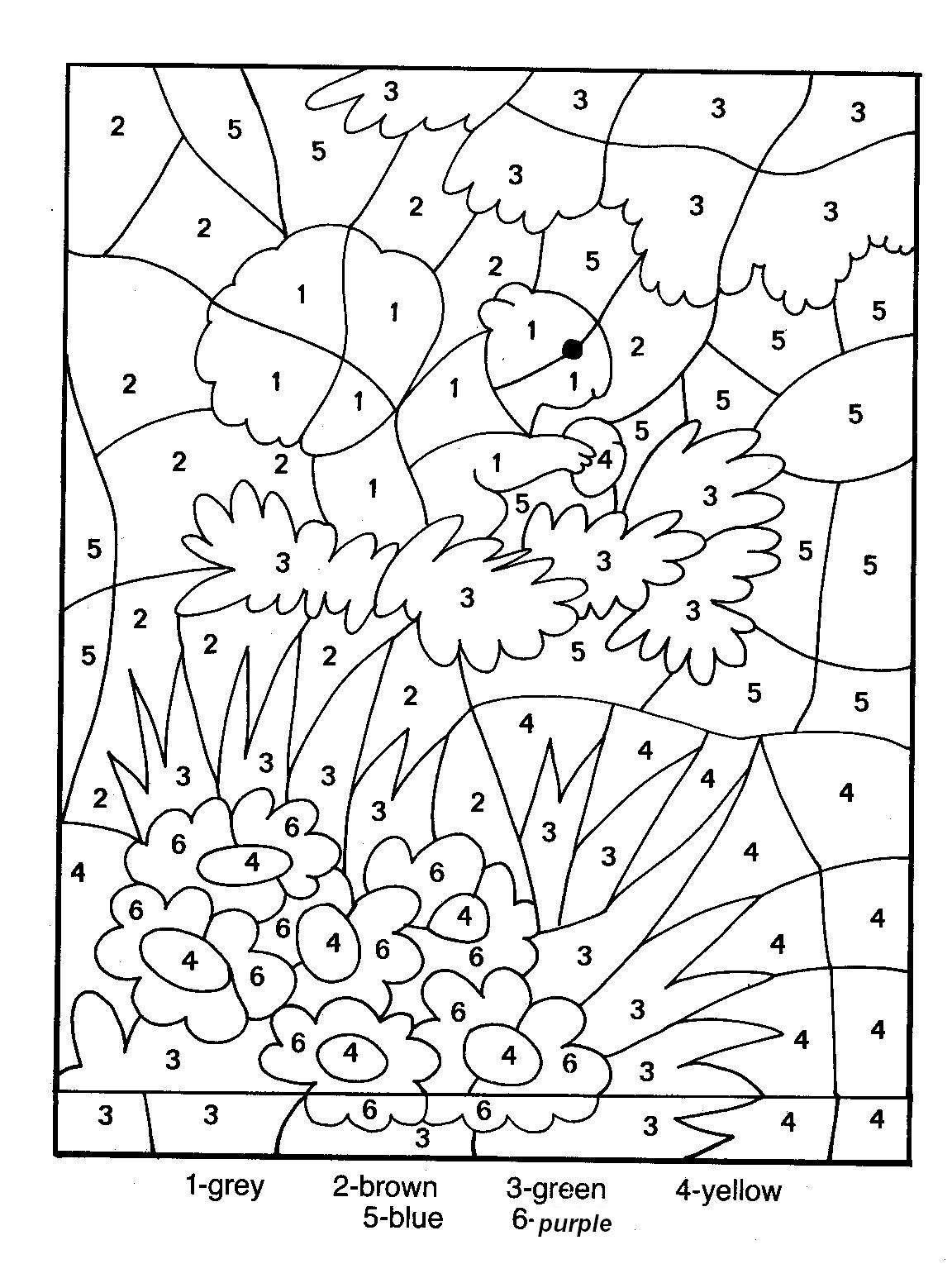 Printable Colornumber For Adults   Colornumber Coloring - Free Printable Color By Number For Adults