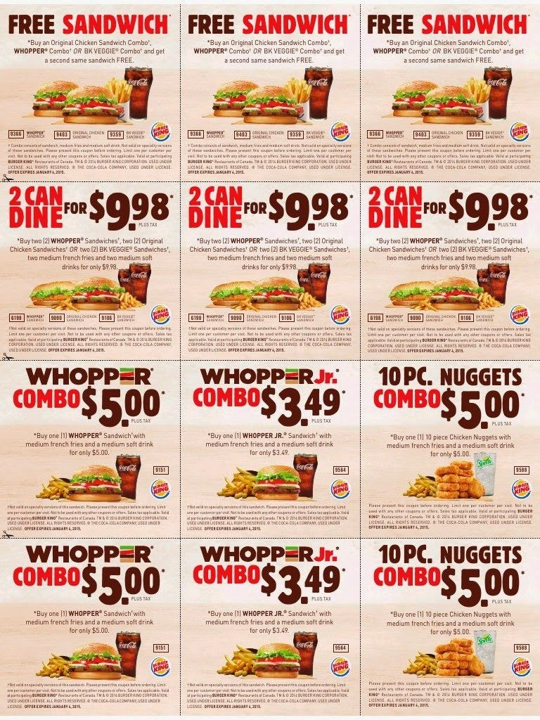 Printable Coupons: Burger King Coupons | Famo | Free Printable - Free Printable Coupons 2014