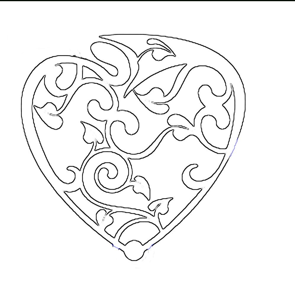 Printable Design Patterns | Fancy Valentines Day Heart | Free Craft - Scroll Saw Patterns Free Printable