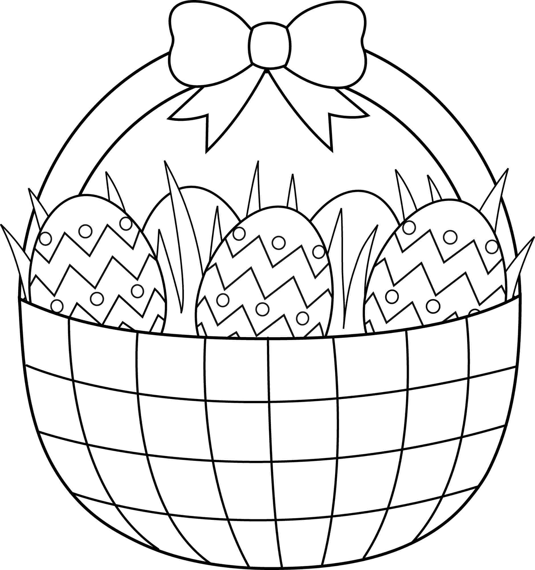 Printable Easter Coloring Pages Free Easter Coloring Pages Printable - Free Printable Coloring Pages Easter Basket