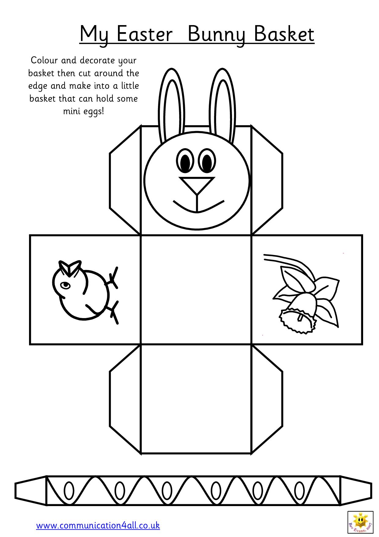 Printable Easter Egg Basket Templates – Hd Easter Images - Free Printable Easter Egg Basket Templates