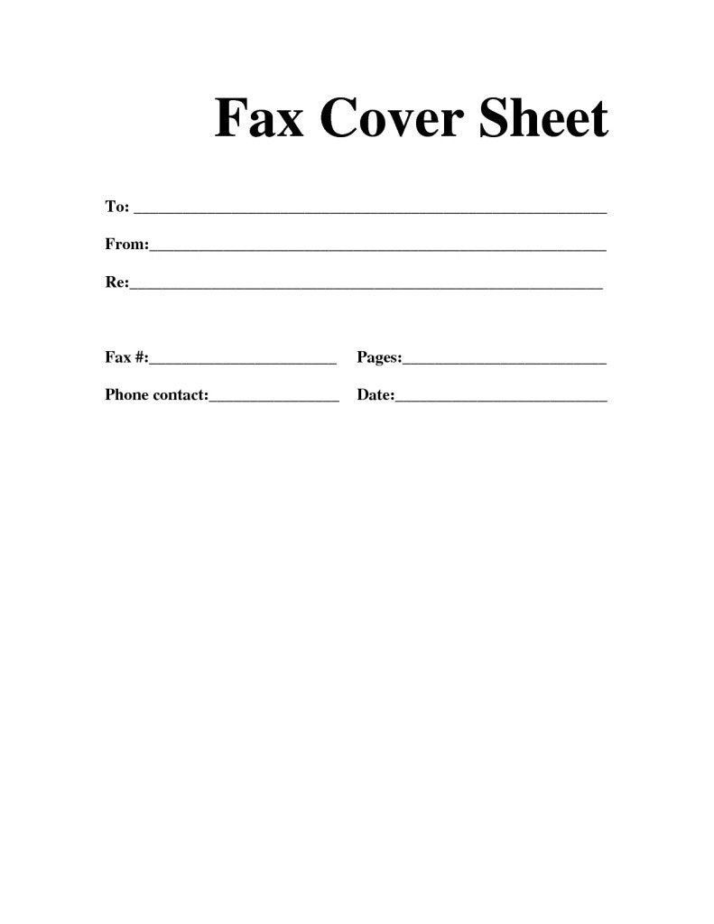 Printable Fax Cover Sheet Template Futuristic Vision Professional - Free Printable Fax Cover Sheet