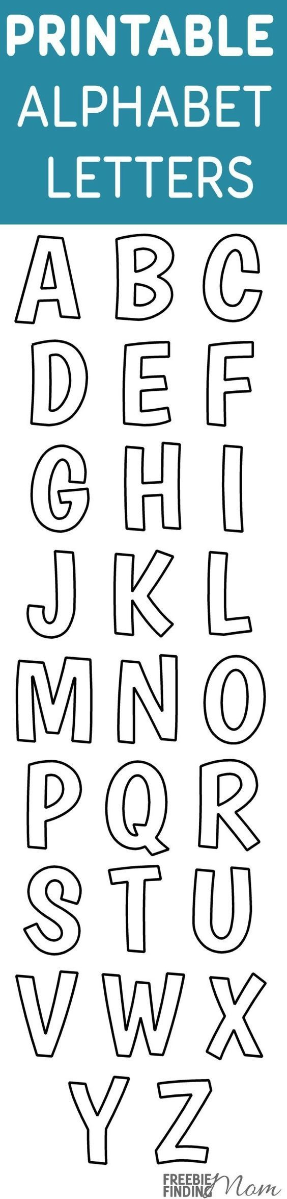Printable Free Alphabet Templates | The Group Board On Pinterest - Free Printable Fonts Stencils