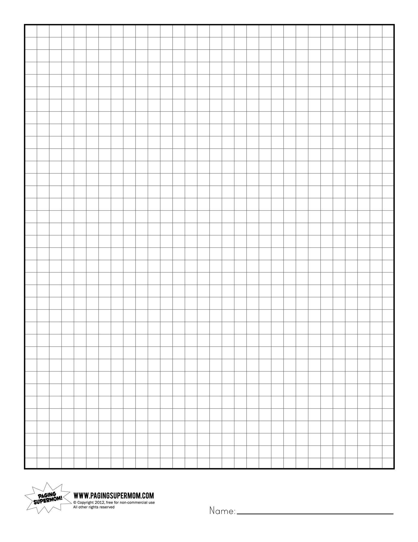 Printable Graph Paper | Healthy Eating | Grid Paper Printable - Free Printable Graph Paper