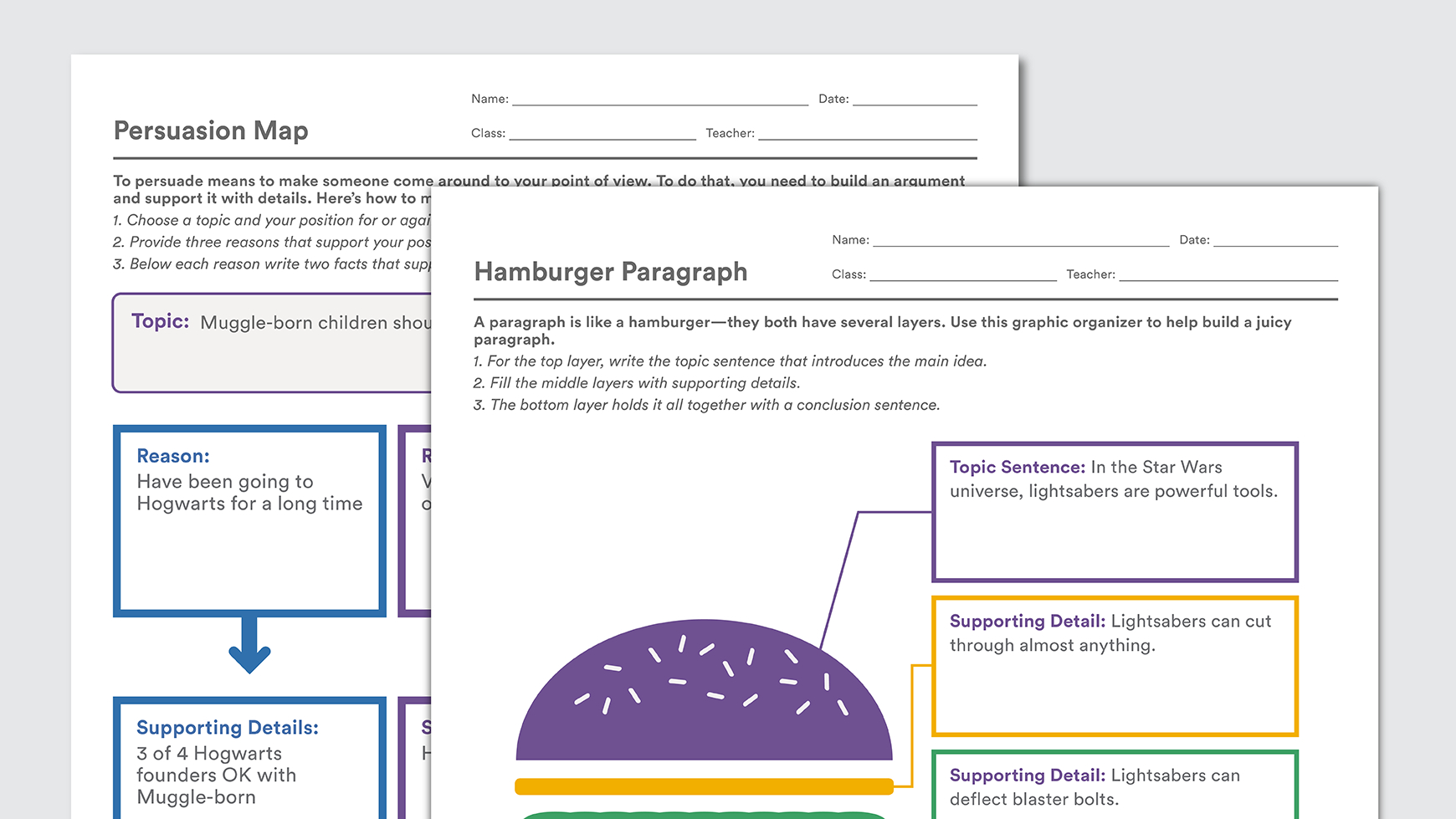 Printable Graphic Organizers To Help Kids With Writing - Free Printable Graphic Organizers