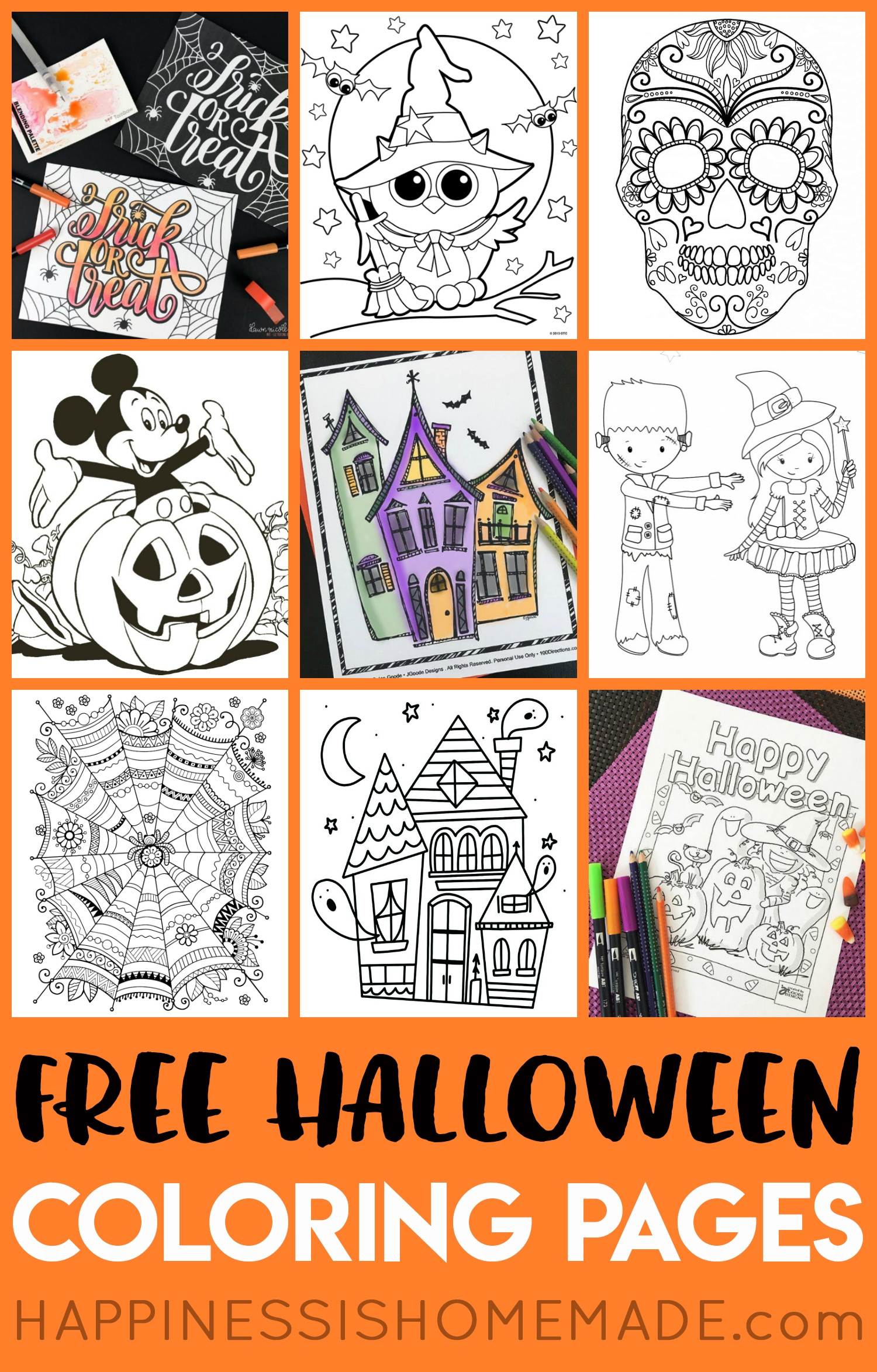 Printable Halloween Coloring Books - Happiness Is Homemade - Free Printable Halloween Homework Pass