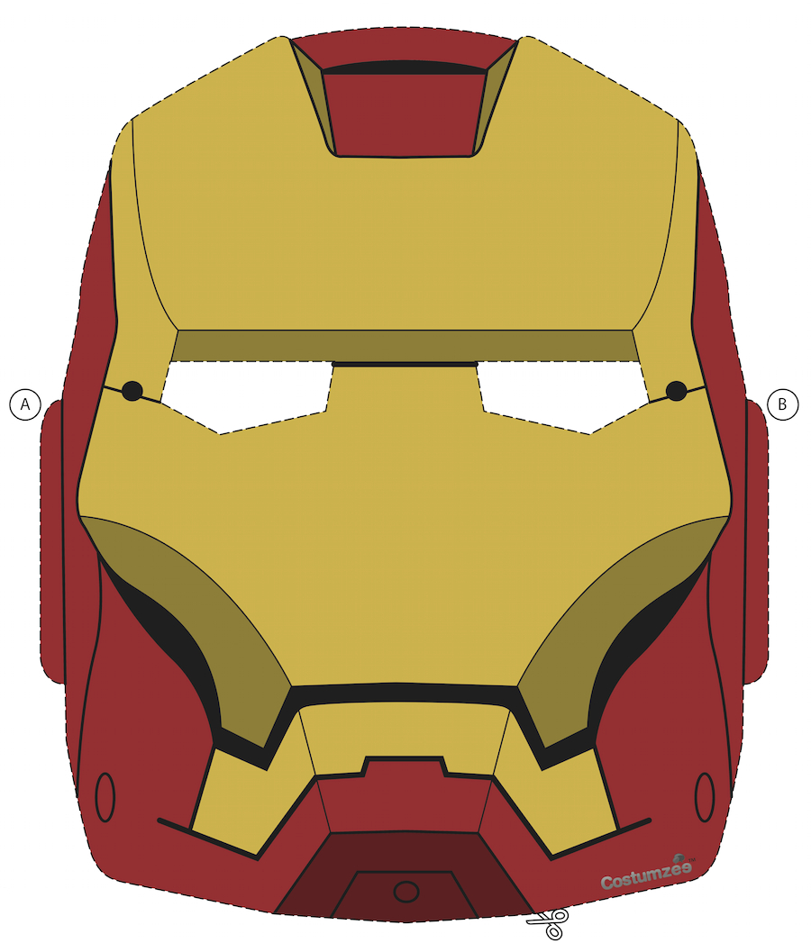 Printable Halloween Masks In 2019 | Halloween - Masks & Costumes - Free Printable Ironman Mask
