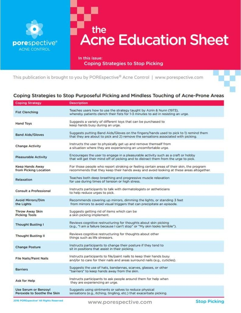 Printable Handouts About Acne - Porespective™ - Free Printable Patient Education Handouts