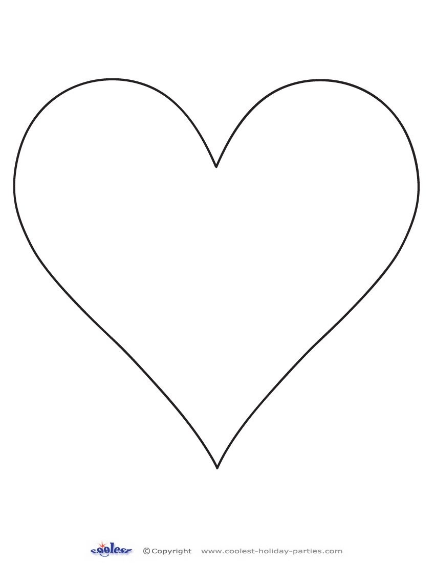 Printable Heart Cut Out 1 Coolest Free Printables | Classroom Crafts - Free Printable Heart Templates