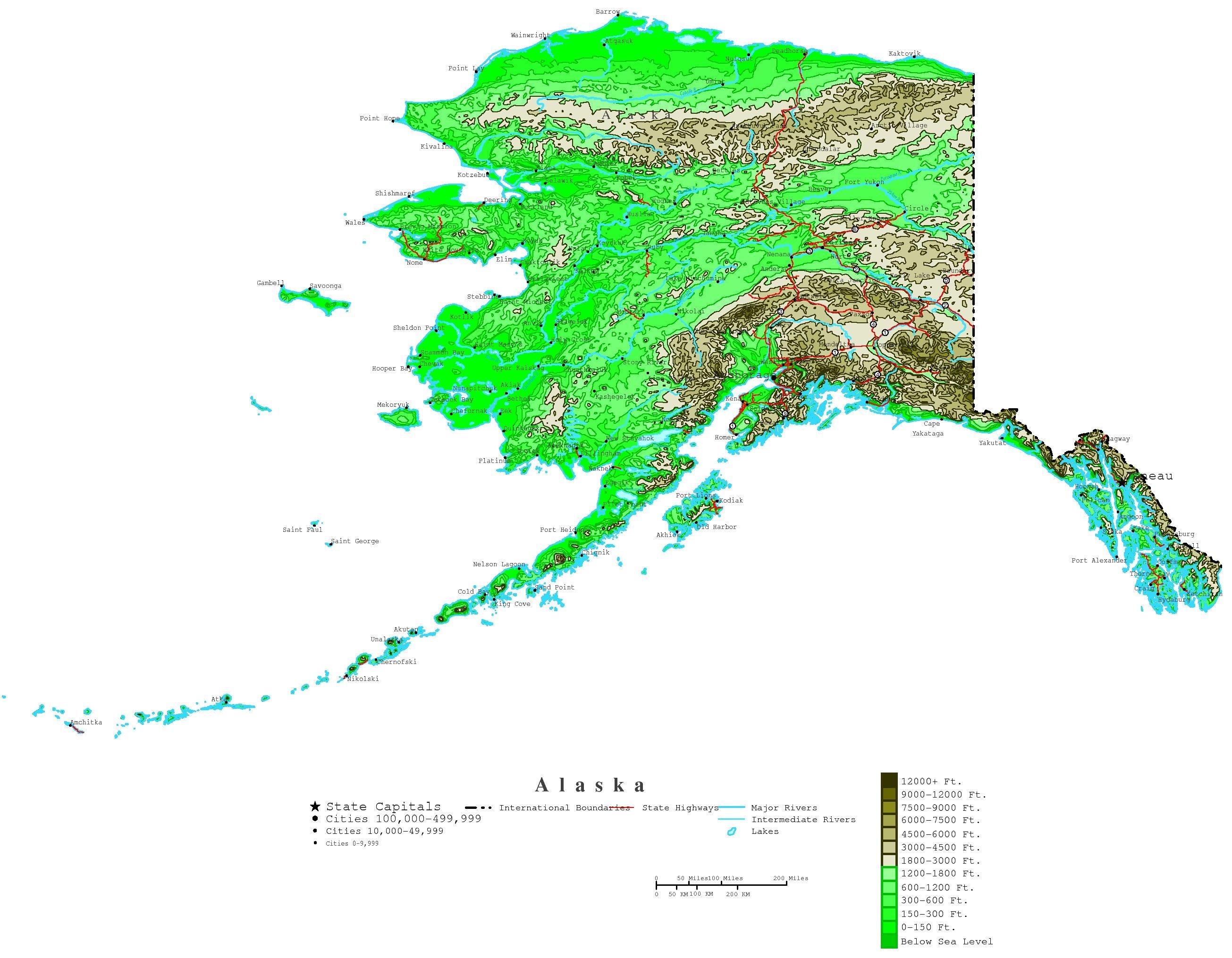 Printable Map Of Alaska And Travel Information | Download Free - Free Printable Pictures Of Alaska