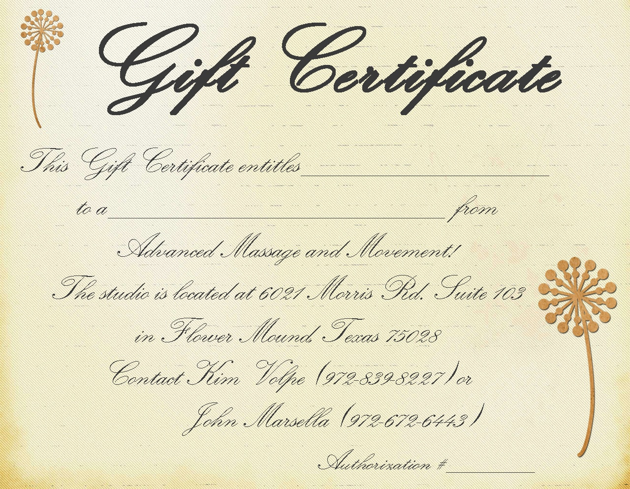 Printable Massage Gift Certificate Template - Free Printable Gift Certificate Templates For Massage