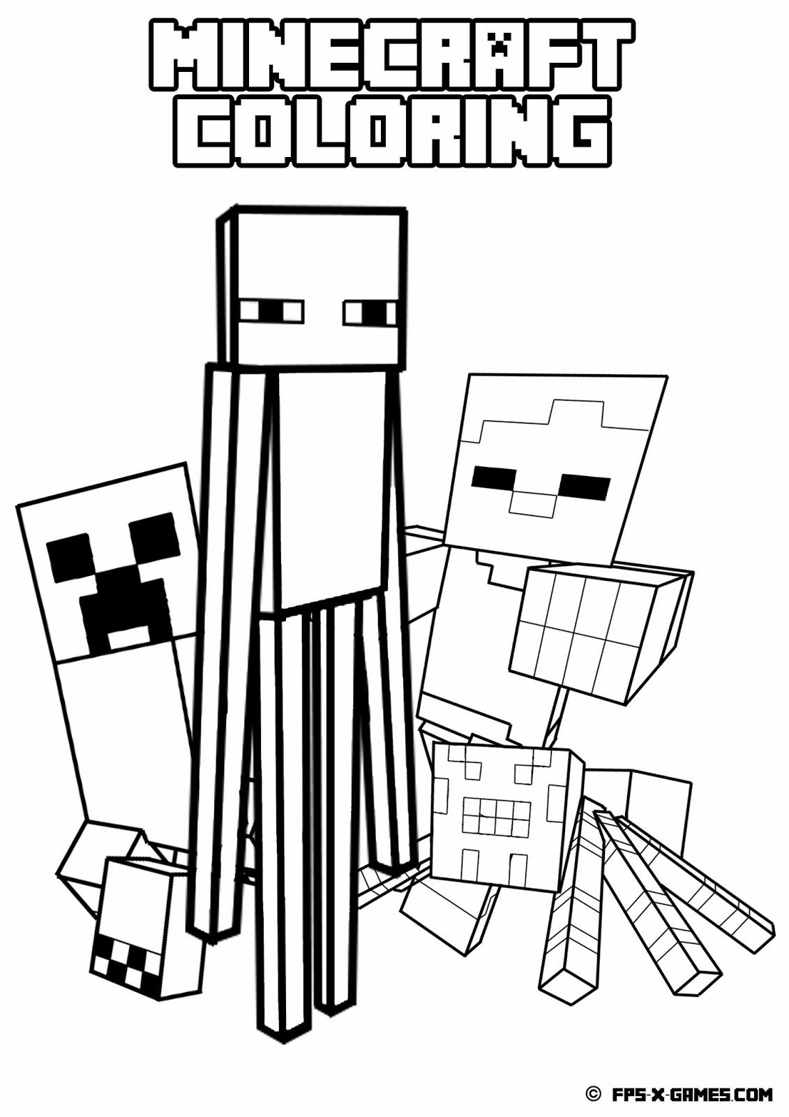 Printable Minecraft Coloring - Mob | Printables | Minecraft Coloring - Free Printable Minecraft Activity Pages