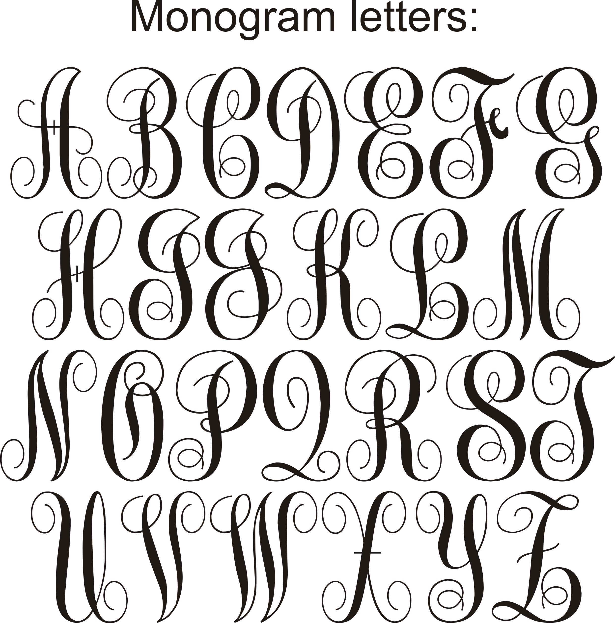 Printable Monogram Letters (70+ Images In Collection) Page 1 - Free Printable Monogram Letters