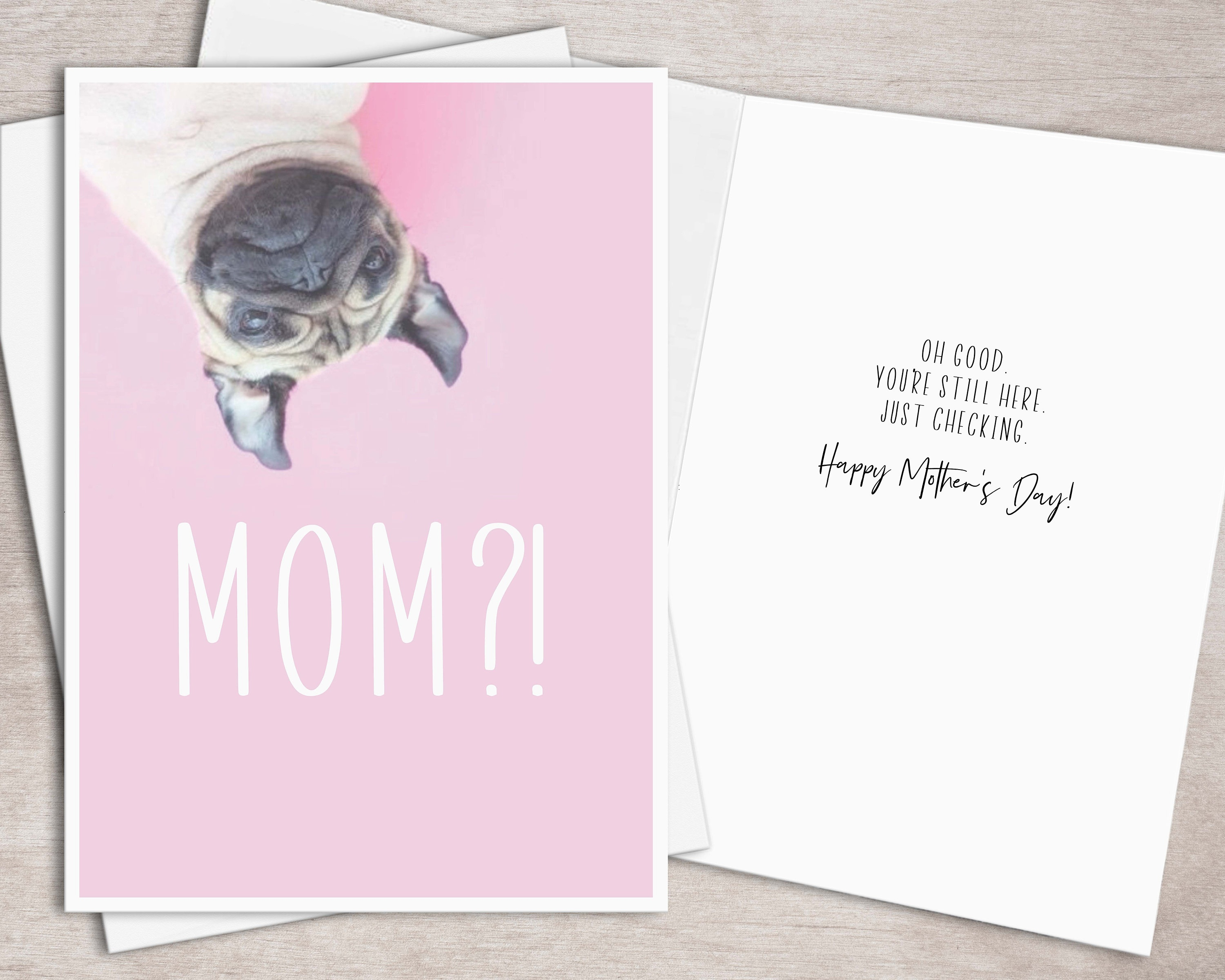 Printable Mothers Day Card For Dog Mom Instant Download // | Etsy - Free Printable Mothers Day Card From Dog