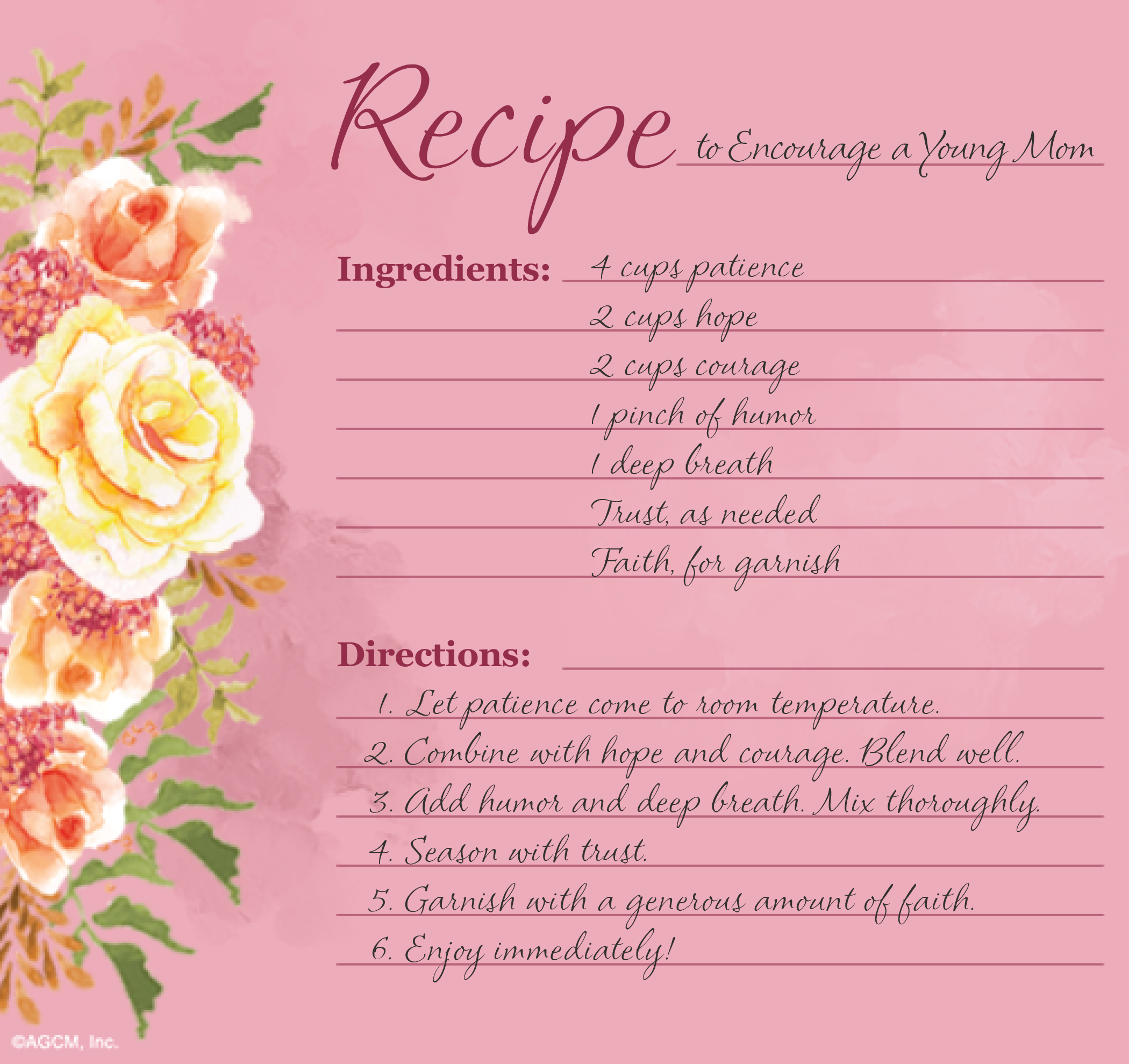 Printable Mother's Day Recipe Poems - Blue Mountain Blog - Free Printable Mothers Day Cards Blue Mountain