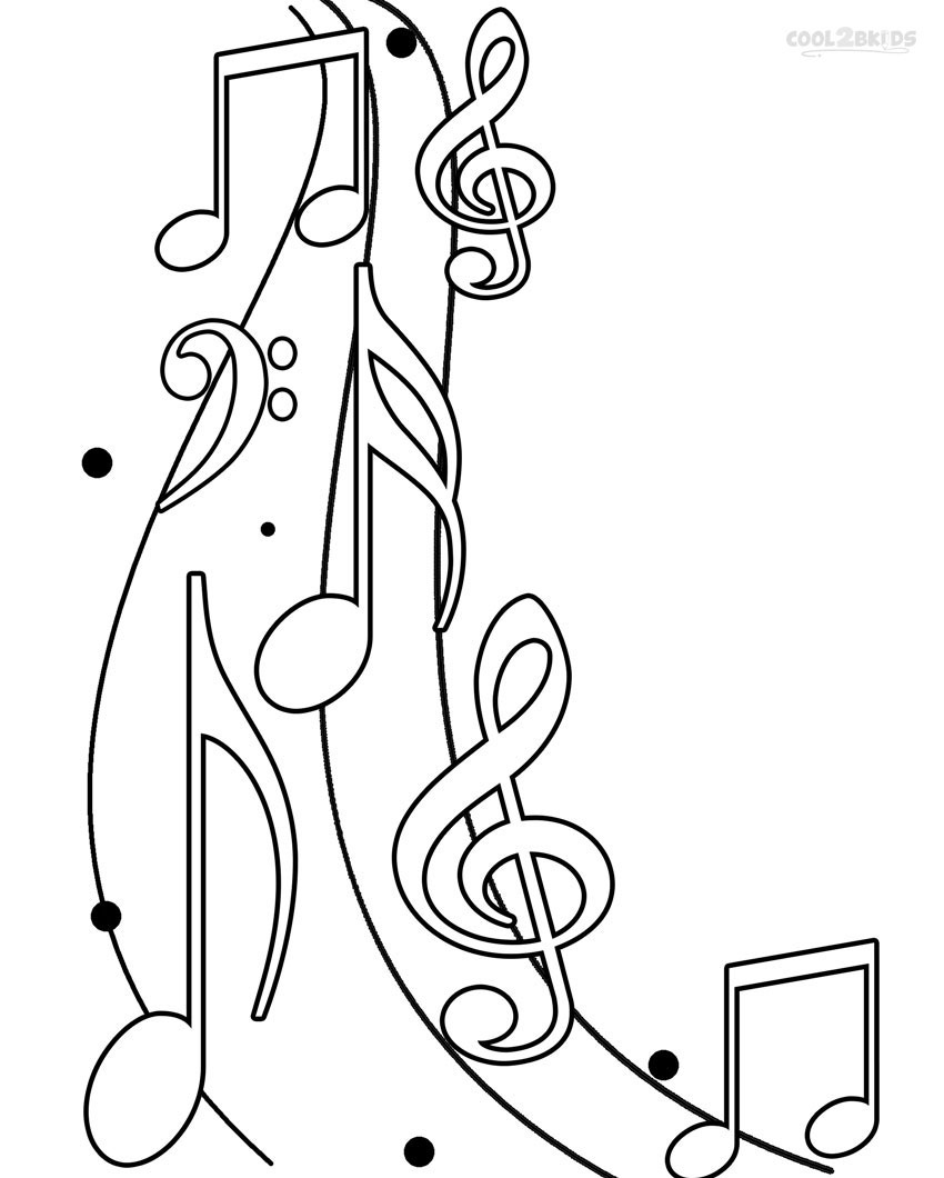 Printable Music Note Coloring Pages For Kids | Cool2Bkids - Free Printable Pictures Of Music Notes