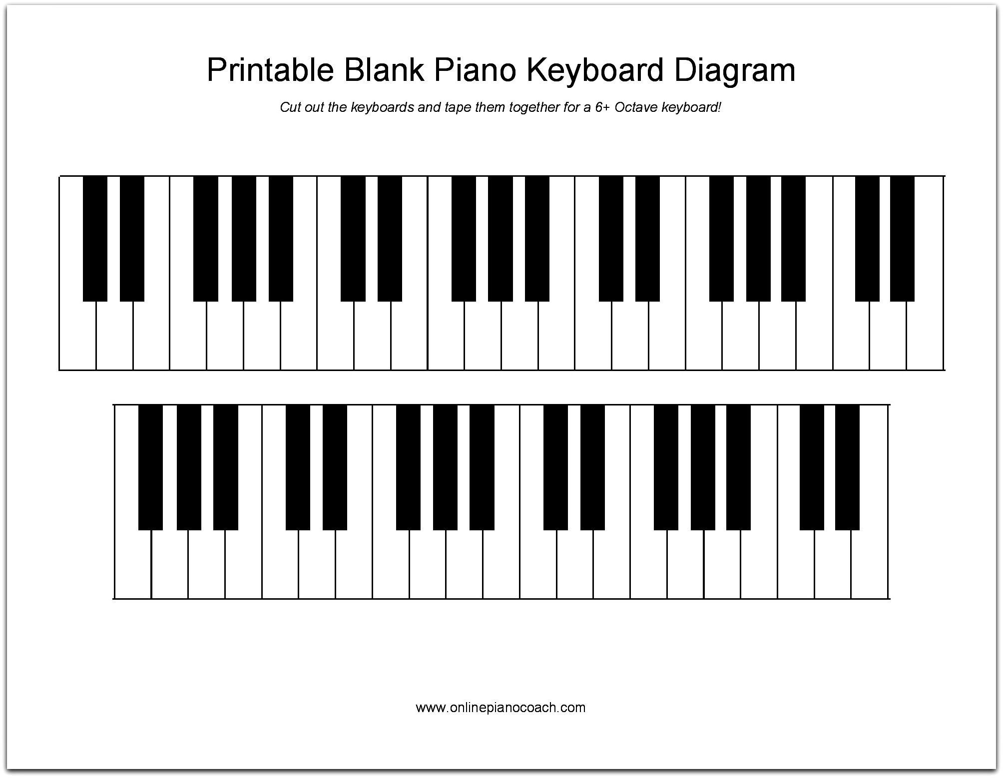 Printable Piano Keyboard Diagram In 2019 | Music | Piano, Easy Piano - Free Printable Keyboard Stickers