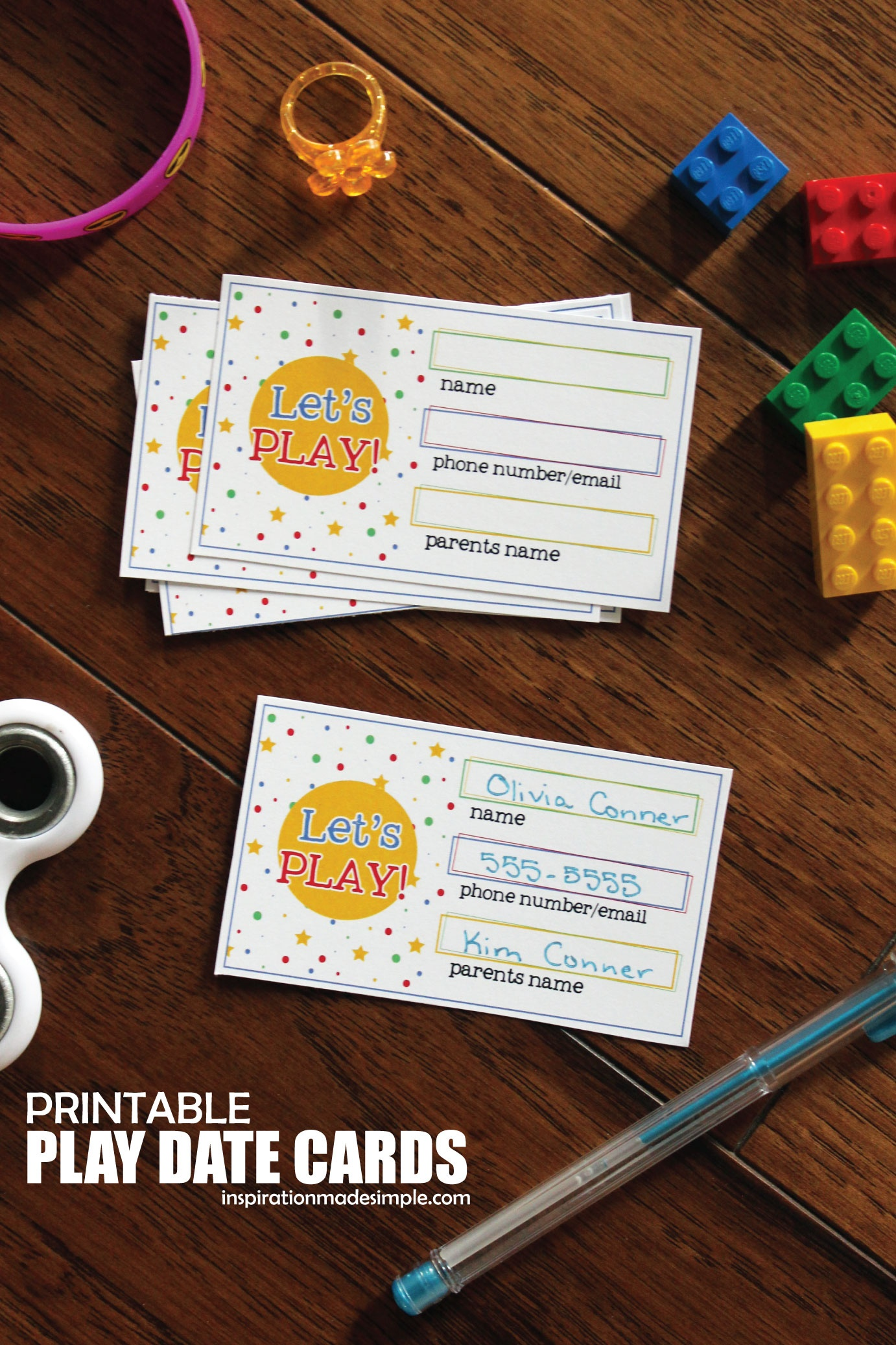 Printable Play Date Cards For Kids - Inspiration Made Simple - Play Date Invitations Free Printable
