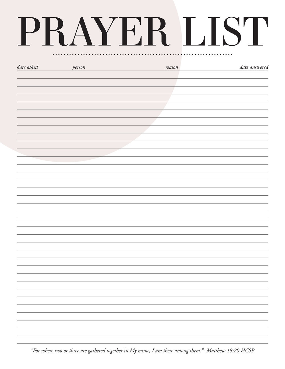 Printable Prayer List (76+ Images In Collection) Page 1 - Free Printable Prayer List