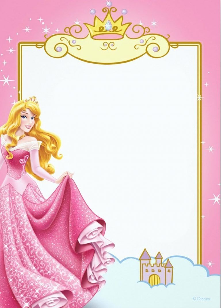 Printable Princess Invitation Card | Party Planning In 2019 - Free Printable Princess Invitation Cards