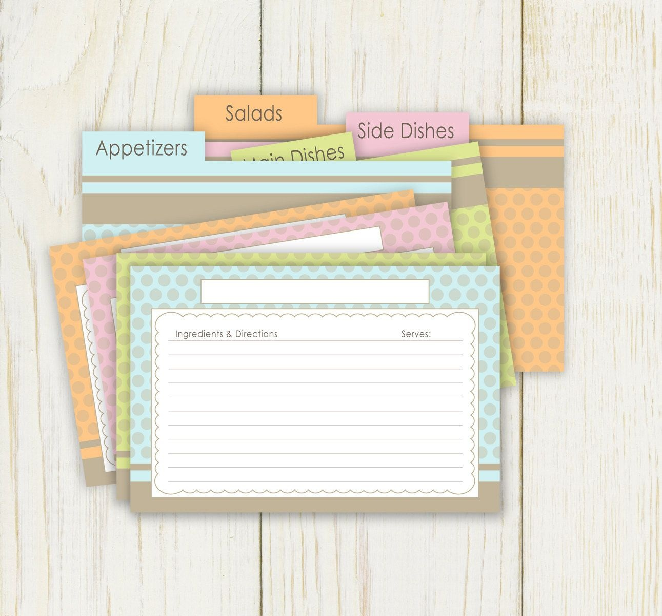 Printable Recipe Cards 4X6 Free   Dots Recipe Cards And Dividers 4X6 - Free Printable Photo Cards 4X6