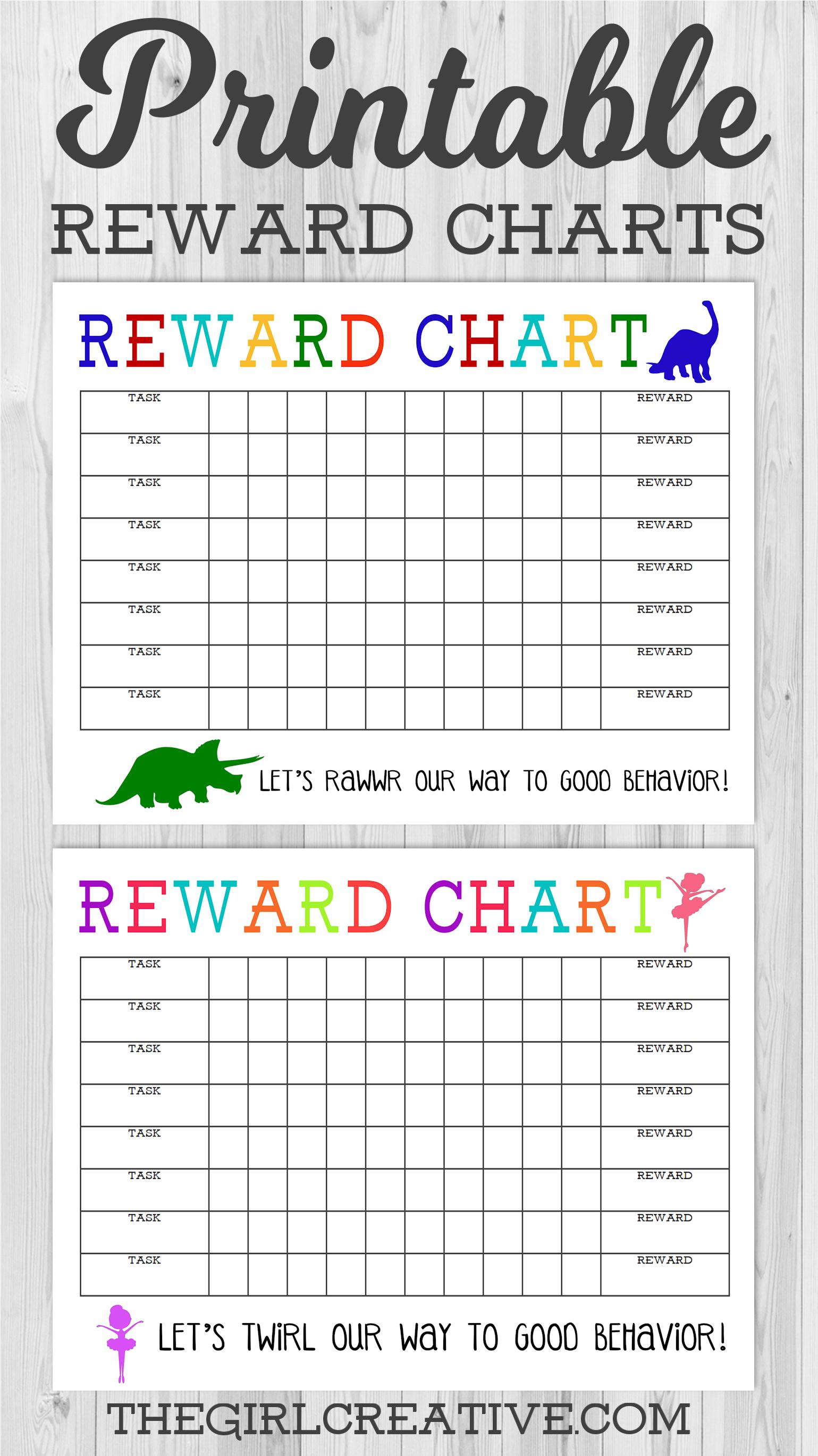 Printable Reward Chart - The Girl Creative - Charts Free Printable