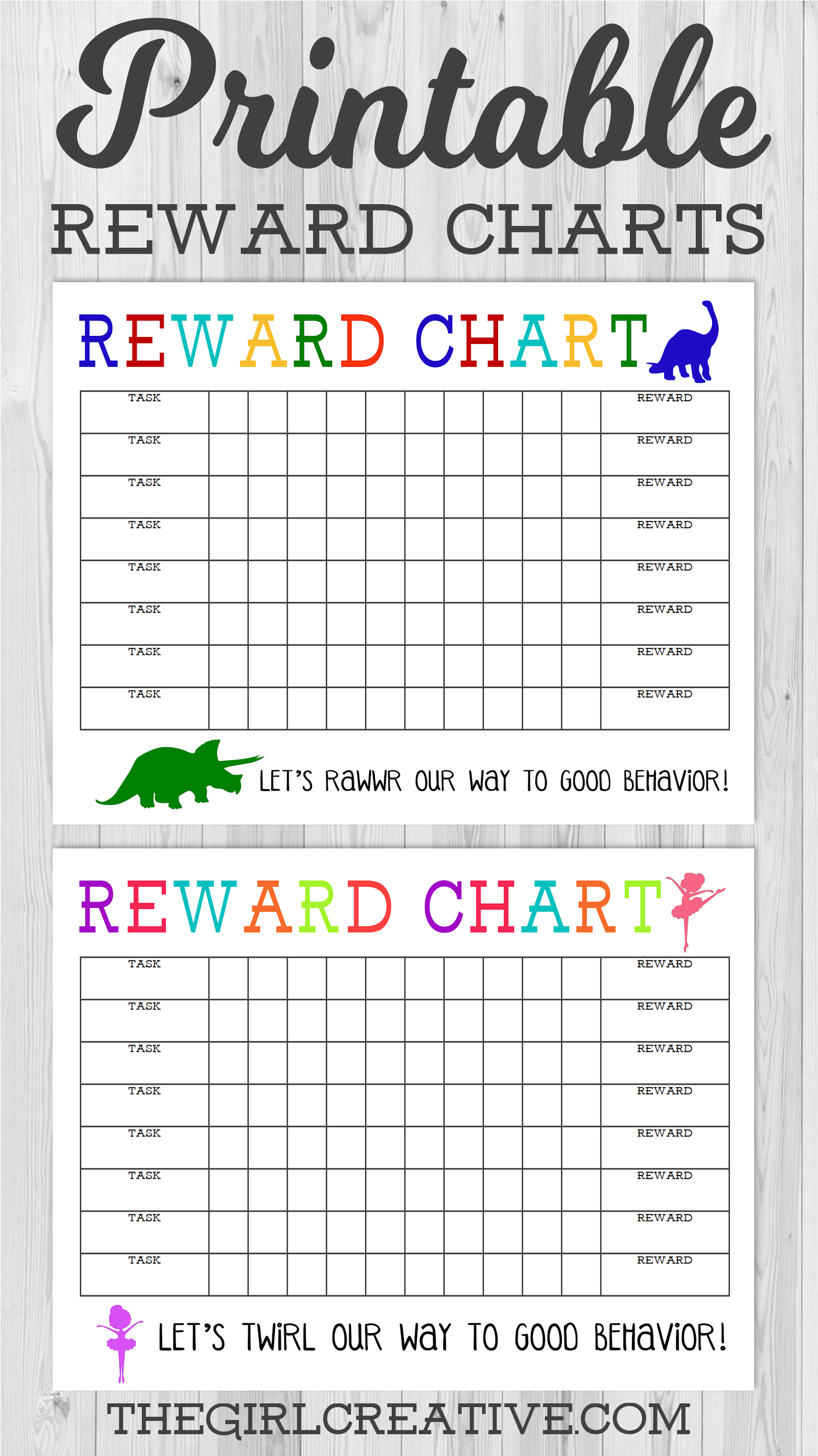 Printable Reward Chart - The Girl Creative - Free Printable Charts For Kids