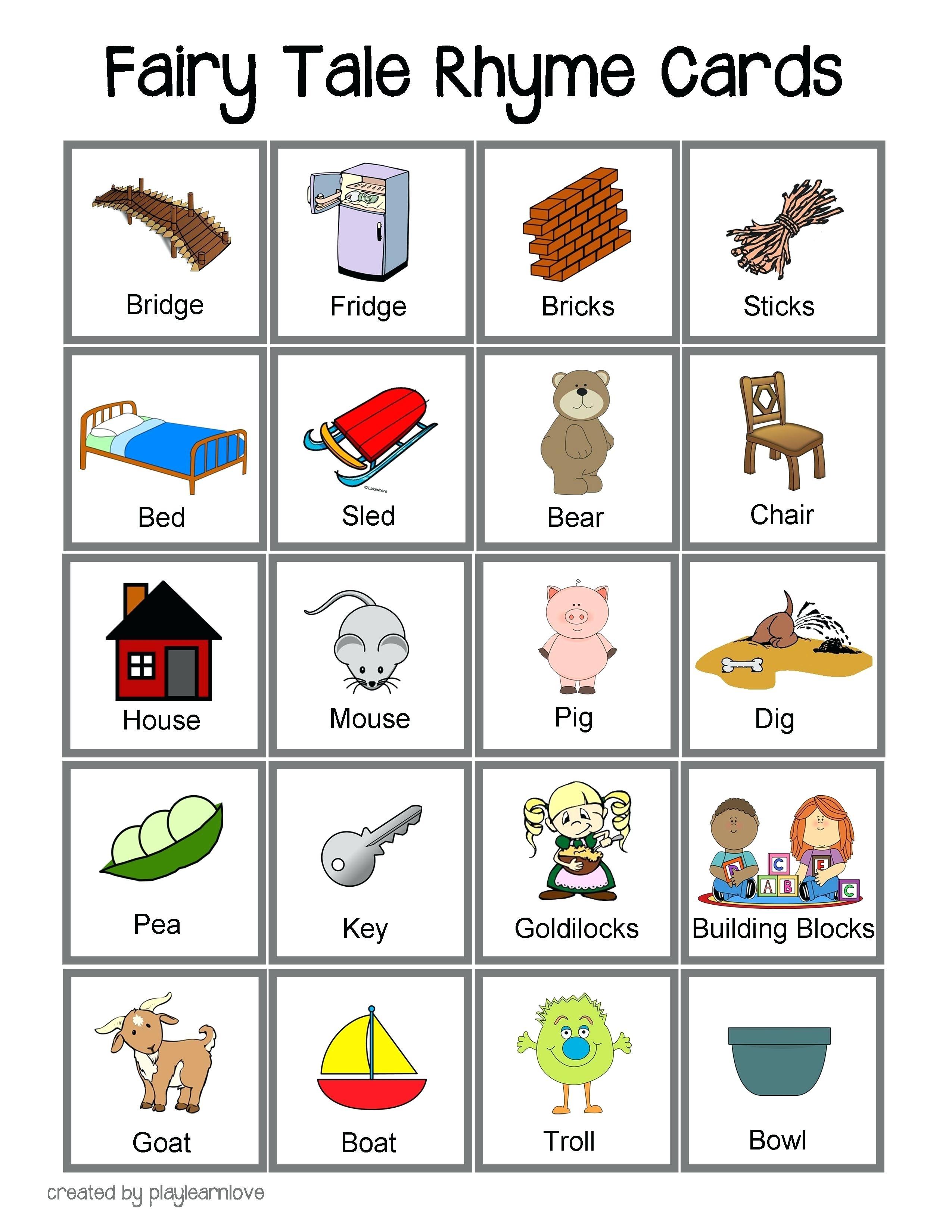 Printable Rhyming Cards – Soulmatesdating.club - Free Printable Rhyming Words Flash Cards
