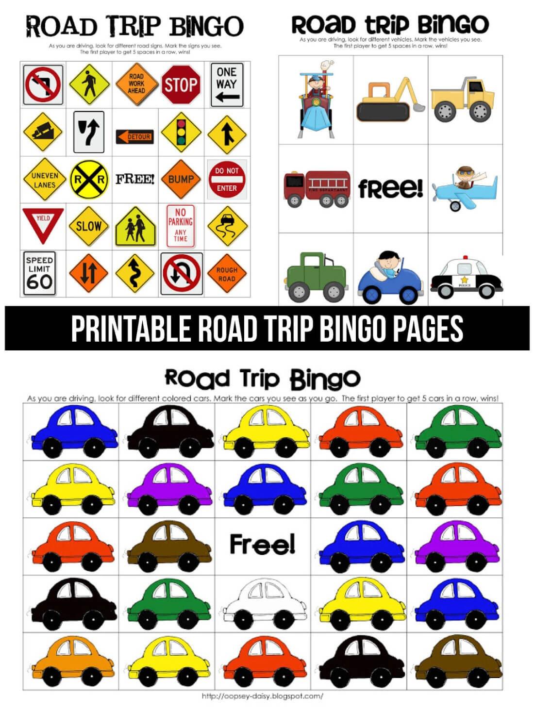 Printable Road Trip Bingo - Free Printable Car Bingo