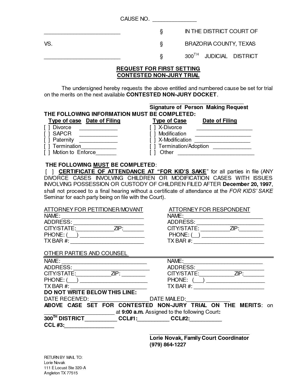 Printable Sample Divorce Documents Form | Laywers Template Forms - Free Printable Divorce Papers For Louisiana