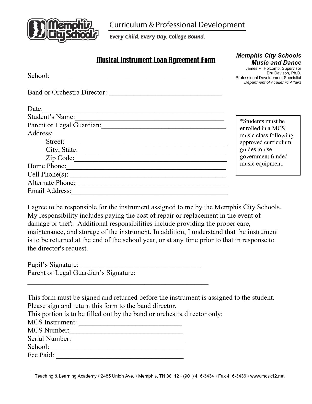 Printable Sample Loan Agreement Form Form | Attorney Legal Forms - Free Printable Loan Agreement Form
