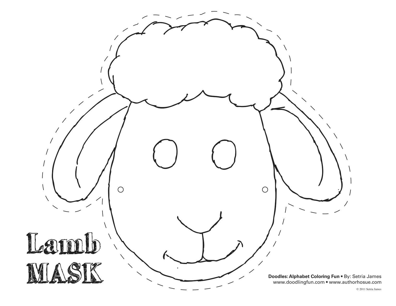 Printable Sheep Mask Template | Art | Sheep Mask, Mask Template - Free Printable Sheep Mask