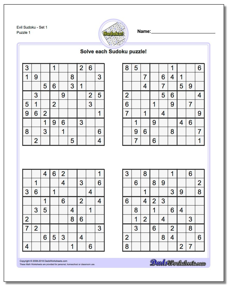 Printable Soduko | Room Surf - Download Printable Sudoku Puzzles Free