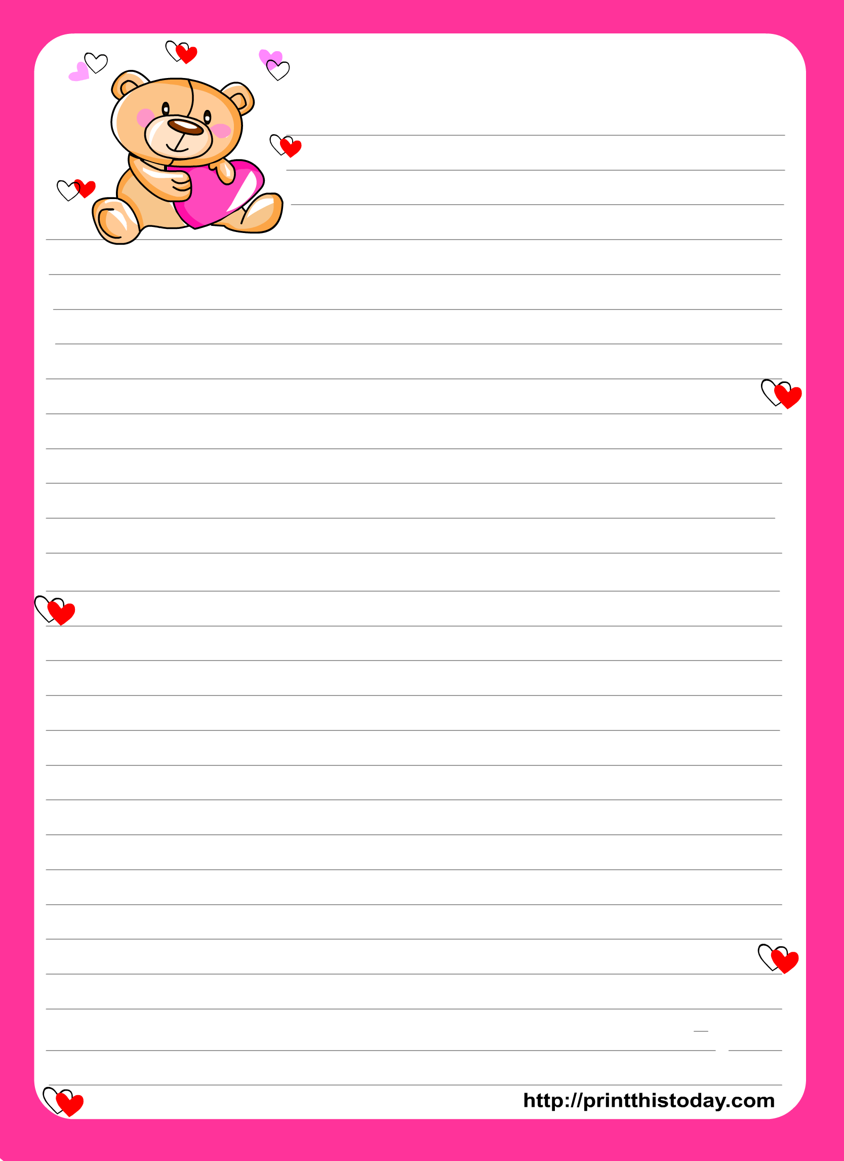 Printable Stationery Paper - Google Search | Stationery - Printables - Free Printable Stationery Writing Paper
