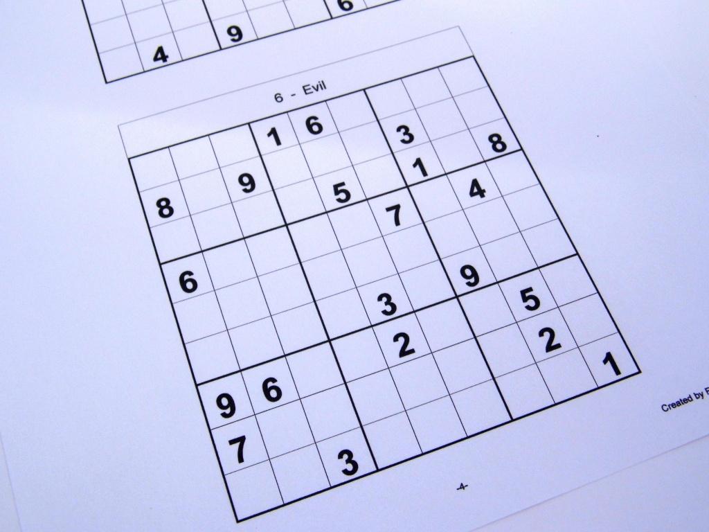 Printable Sudoku 6 To A Page | Printable Sudoku Free - Free Printable Sudoku 6 Per Page