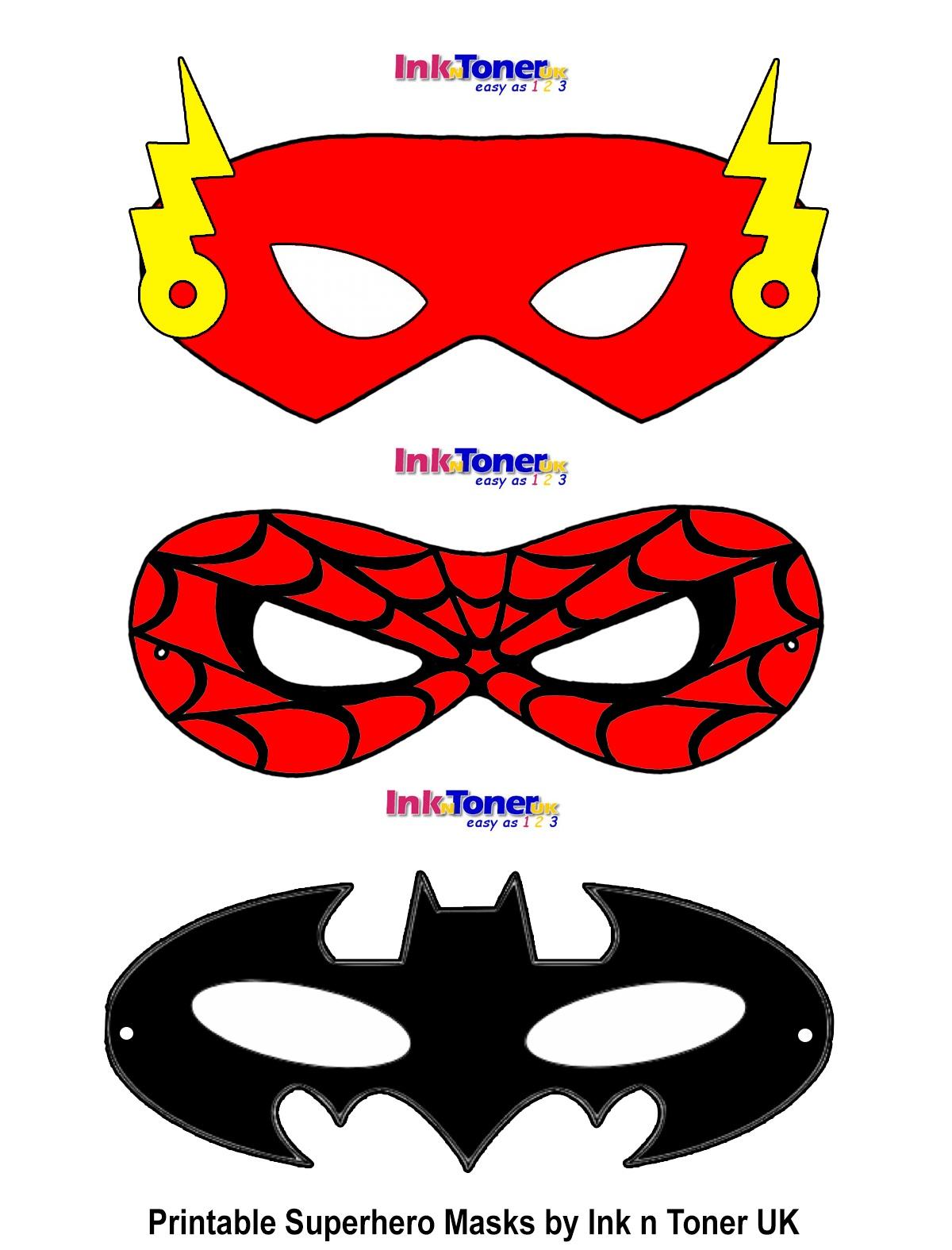 Printable Superhero Masks For Super Hero Day | Inkntoneruk Blog - Free Printable Superhero Masks