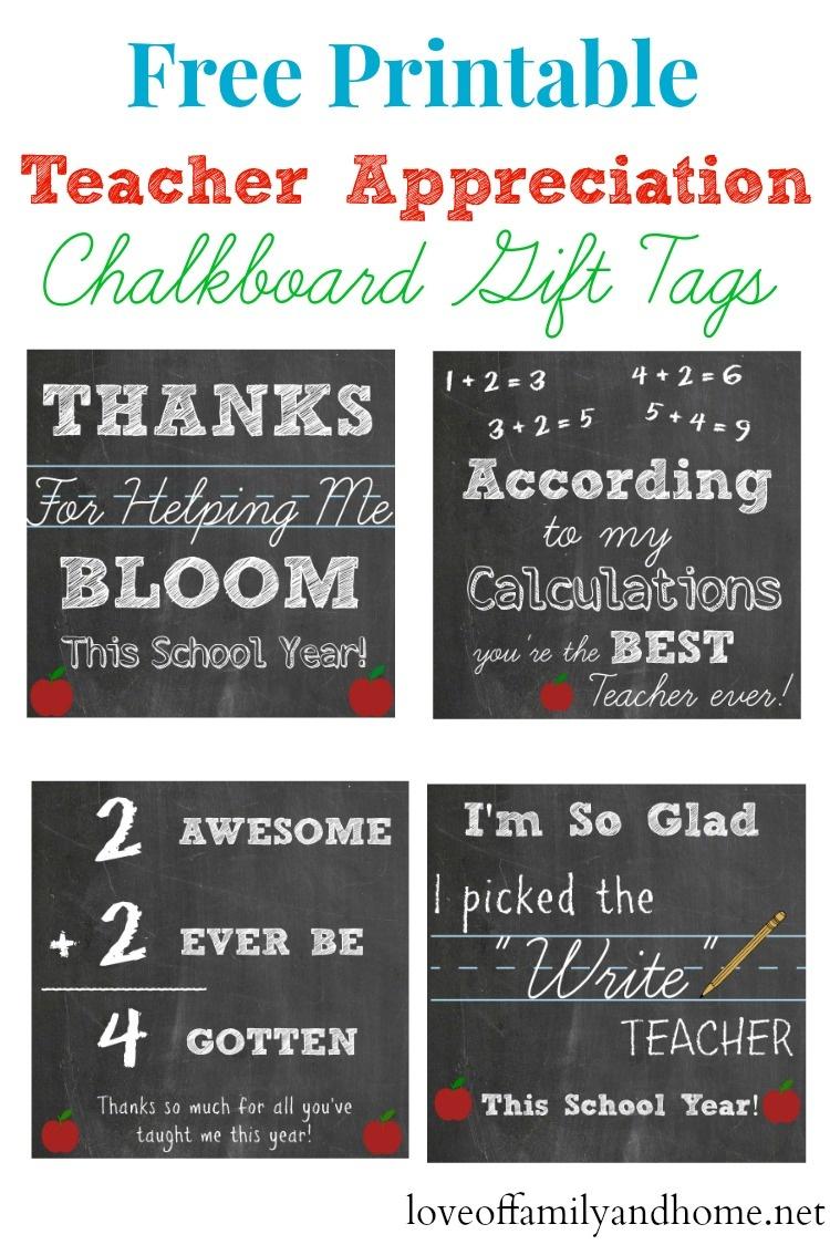 Printable Teacher Gift Tags - Free Printable Tags - Free Printable Name Tags For Teachers