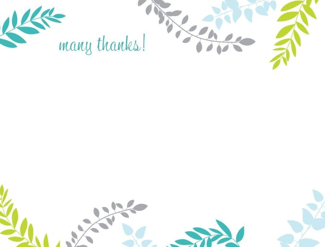 Printable Thank You Card Template | Harmonia Gift | Teacher's Day - Thank You Card Free Printable Template