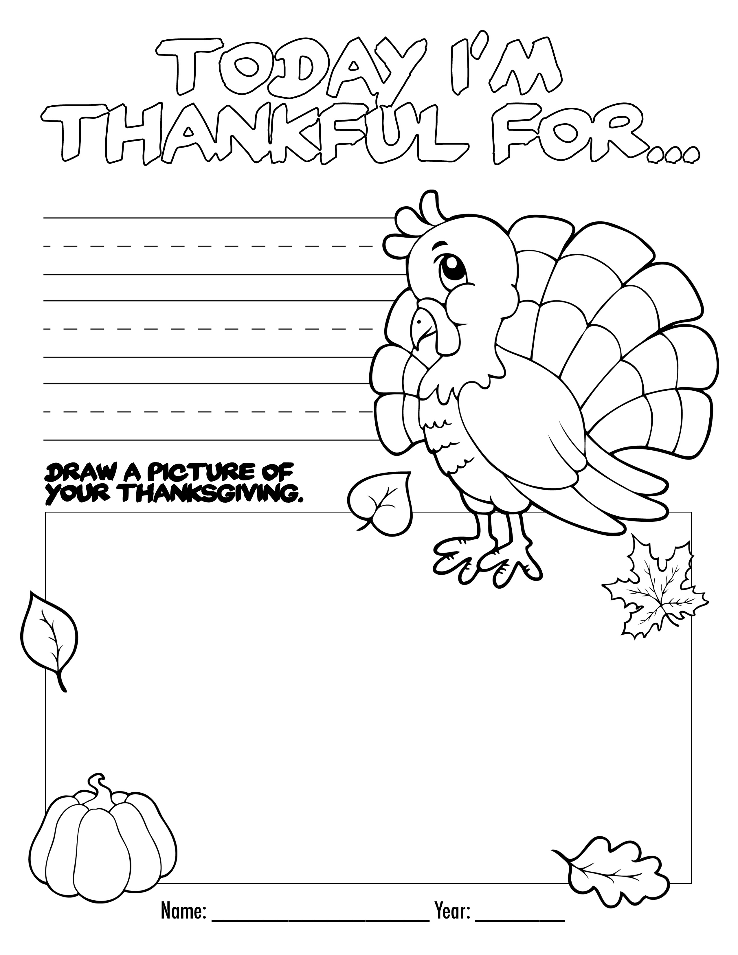 Printable Thanksgiving Book Pages – Happy Easter & Thanksgiving 2018 - Free Printable Thanksgiving Books