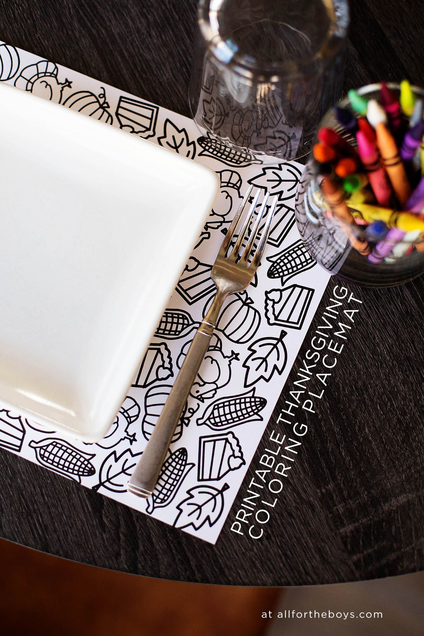 Printable Thanksgiving Coloring Placemat | Thanksgiving - Free Printable Thanksgiving Coloring Placemats