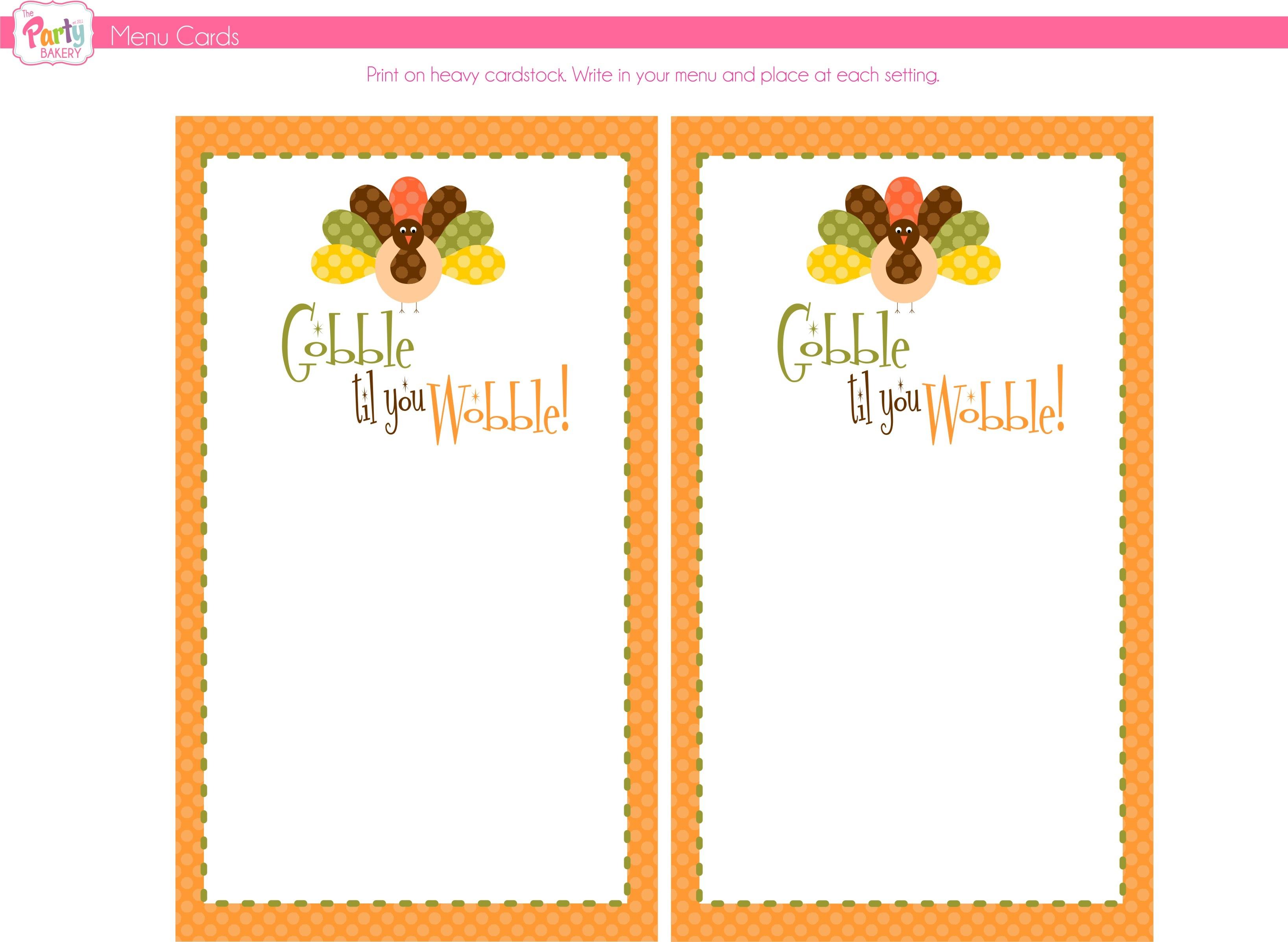 Printable Thanksgiving Menu Templates For Free – Happy Easter - Free Printable Thanksgiving Menu Template