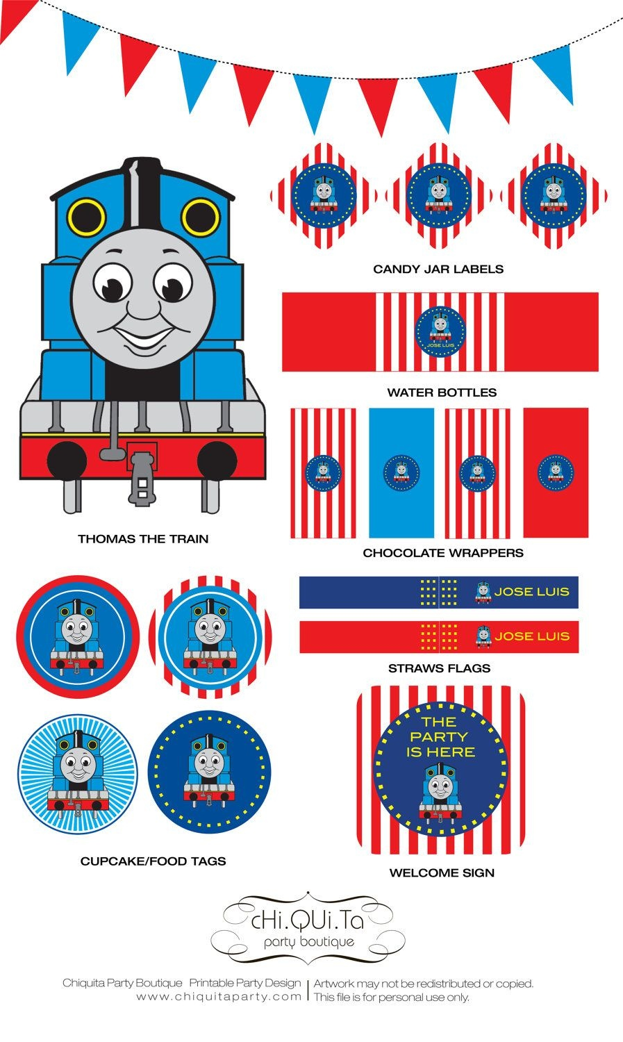 Printable Thoma's The Train Birthday Party Pdfchiquitapb The - Free Printable Thomas The Train Cupcake Toppers