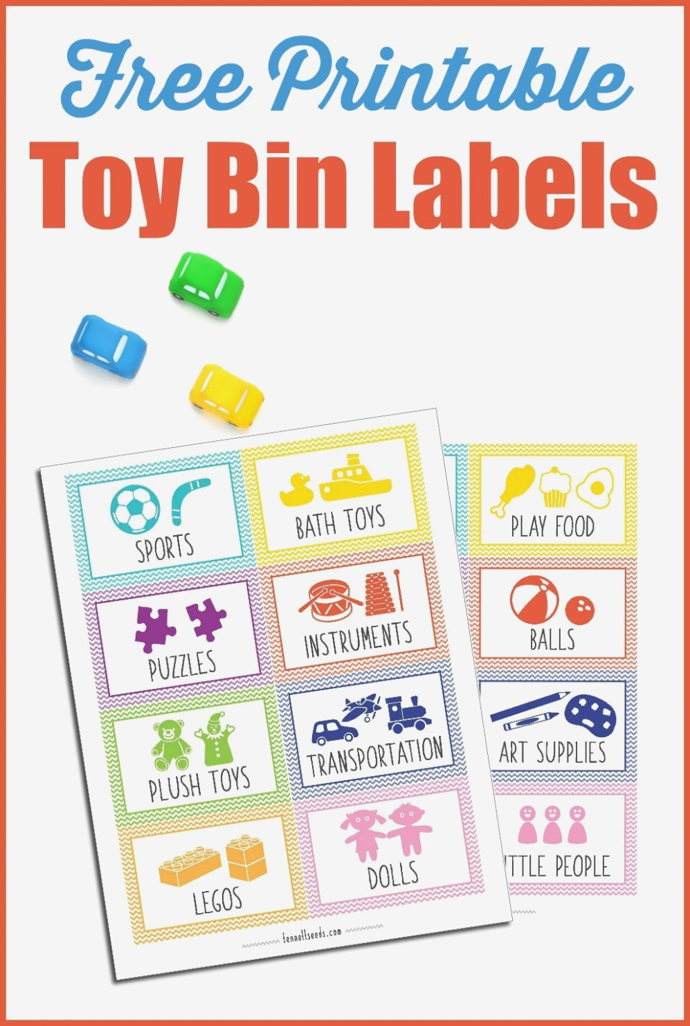 Printable Toy Bin Labels That Are Cute And Free – Play Food Labels - Free Printable Play Food Labels