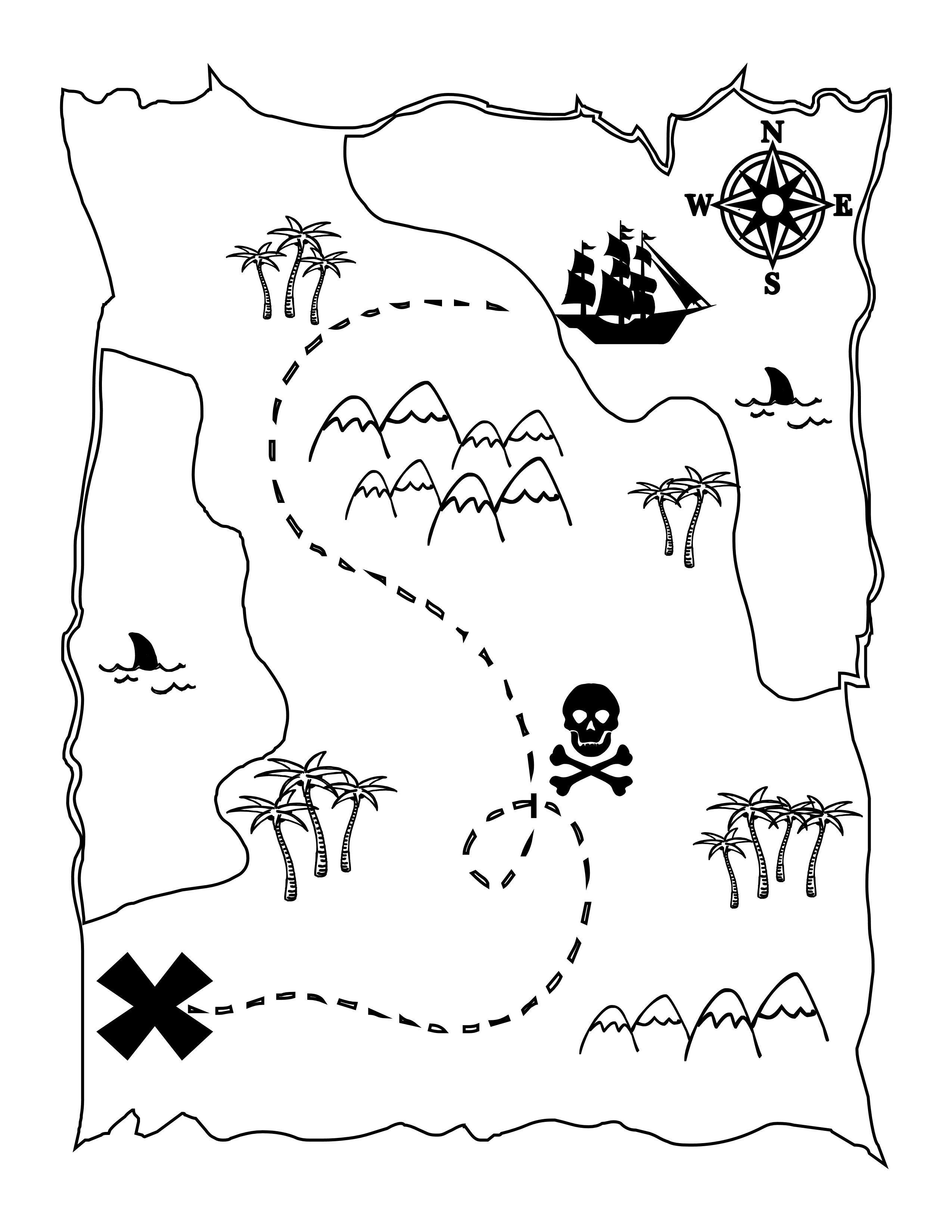 Printable Treasure Map Kids Activity | Printables | Pirate Maps - Free Printable Pirate Maps