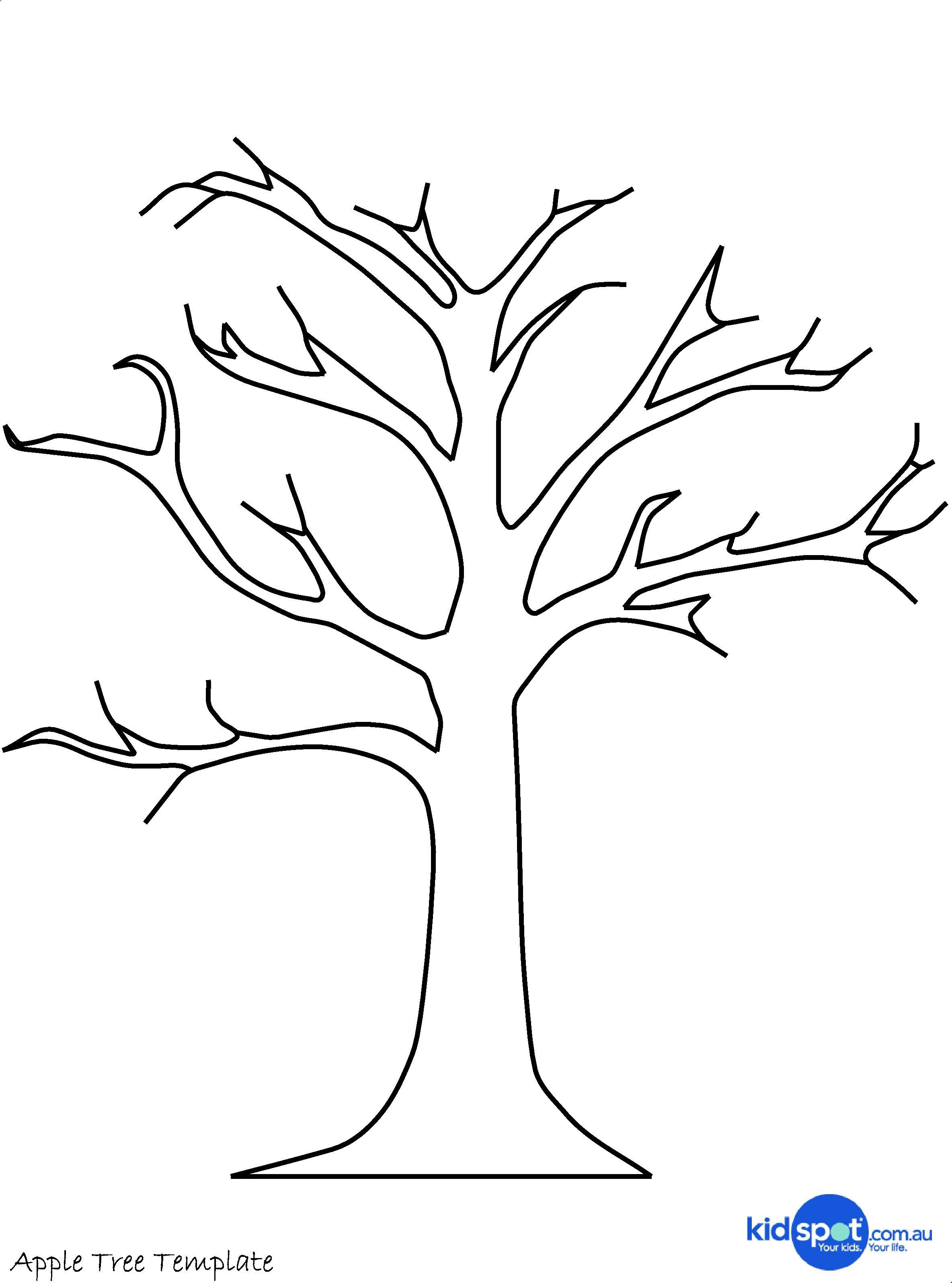 Printable Tree Template   Tree Craft - Cork Stamp Apple Tree - Art - Free Printable Tree Template
