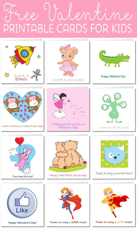 Printable Valentine Cards For Kids - Free Printable Valentines Day Cards For Her